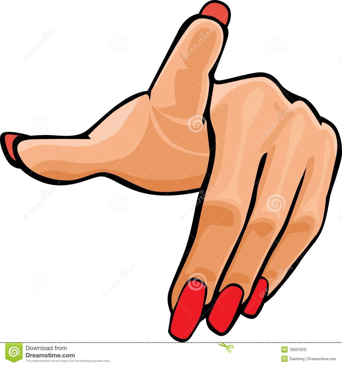 Finger nails clipart clipart freeuse Clipart Hand Pointing Woman Cartoon Fingernails - ArtToNail clipart freeuse