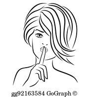 Finger over lips clipart svg transparent download Finger On Lips Clip Art - Royalty Free - GoGraph svg transparent download