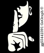 Finger over lips clipart png library download Finger On Lips Clip Art - Royalty Free - GoGraph png library download