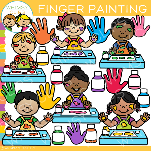 Finger painting clipart vector free download Kids Finger Painting Clip Art vector free download