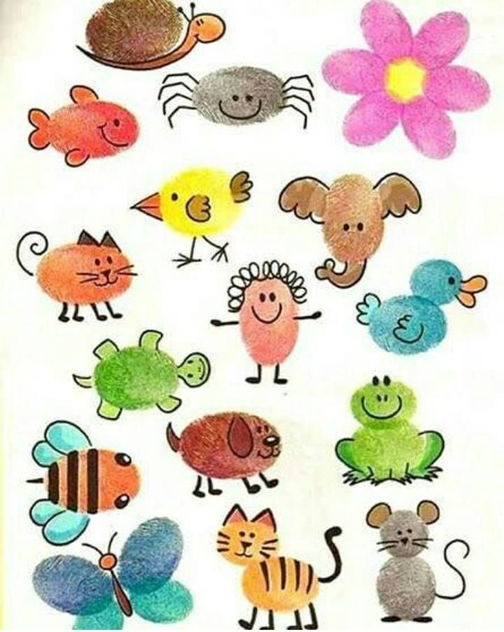 Finger painting clipart vector black and white stock finger-painting-animals | funnycrafts | Kirk & Sandy | Fingerprint ... vector black and white stock