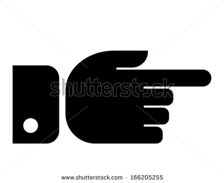 Finger pointer icon clipart clip art black and white Finger Pointing Symbol Stock Images, Royalty-Free Images & Vectors ... clip art black and white
