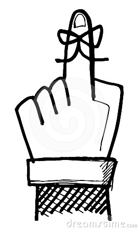 Finger with ribbon clipart clipart Finger With Ribbon Clipart clipart