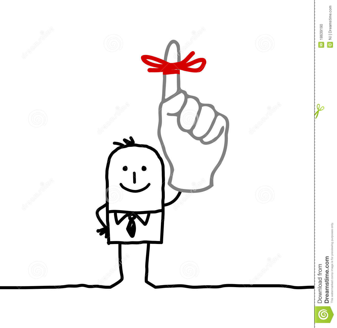 Finger with ribbon clipart image black and white stock Finger With Ribbon Clipart - Clipart Kid image black and white stock