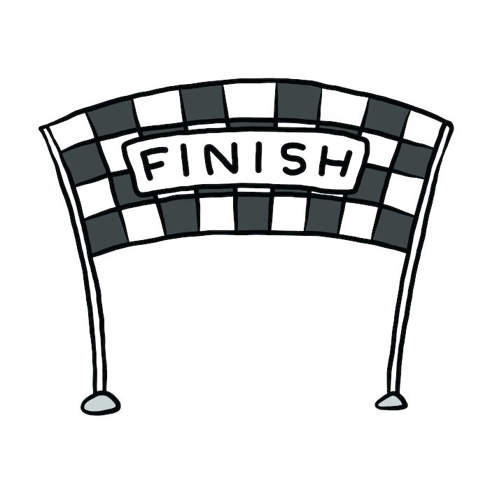 Finish line clipart black and white png black and white download Squiggly clipart free download on Bankkita cliparts png black and white download