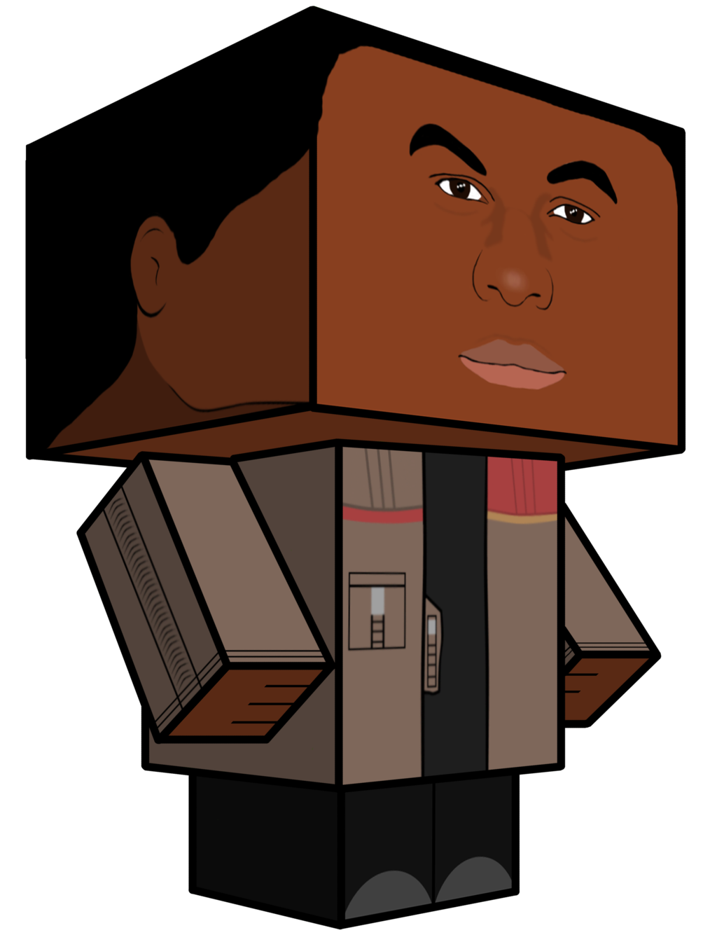 Finn star wars clipart clip transparent stock Cubeecraft Finn Star Wars Episode VII by JagaMen on DeviantArt clip transparent stock