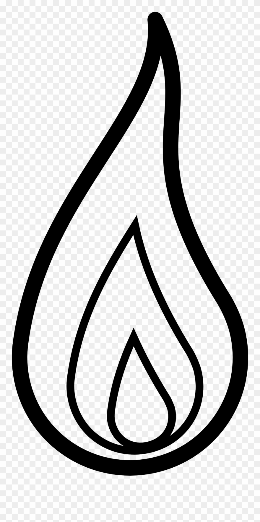 Fire clipart black and white in a line image transparent library Fire Flames Clipart Black And White Free Clipart - Clipart Flame ... image transparent library