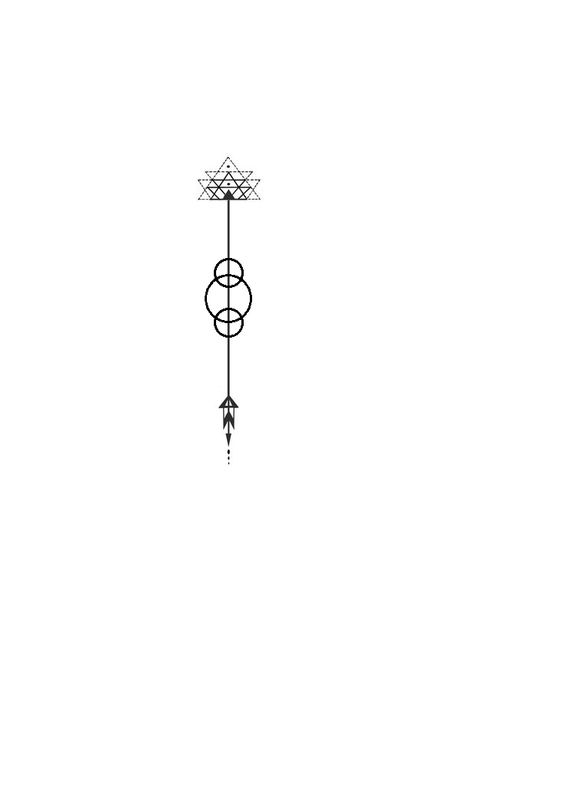 Fire arrow outline clipart picture transparent download Arrow flower alchemy fire geometric tattoo. With three circles ... picture transparent download