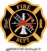 Fire badge clipart free svg transparent Fire Department Clip Art - Royalty Free - GoGraph svg transparent