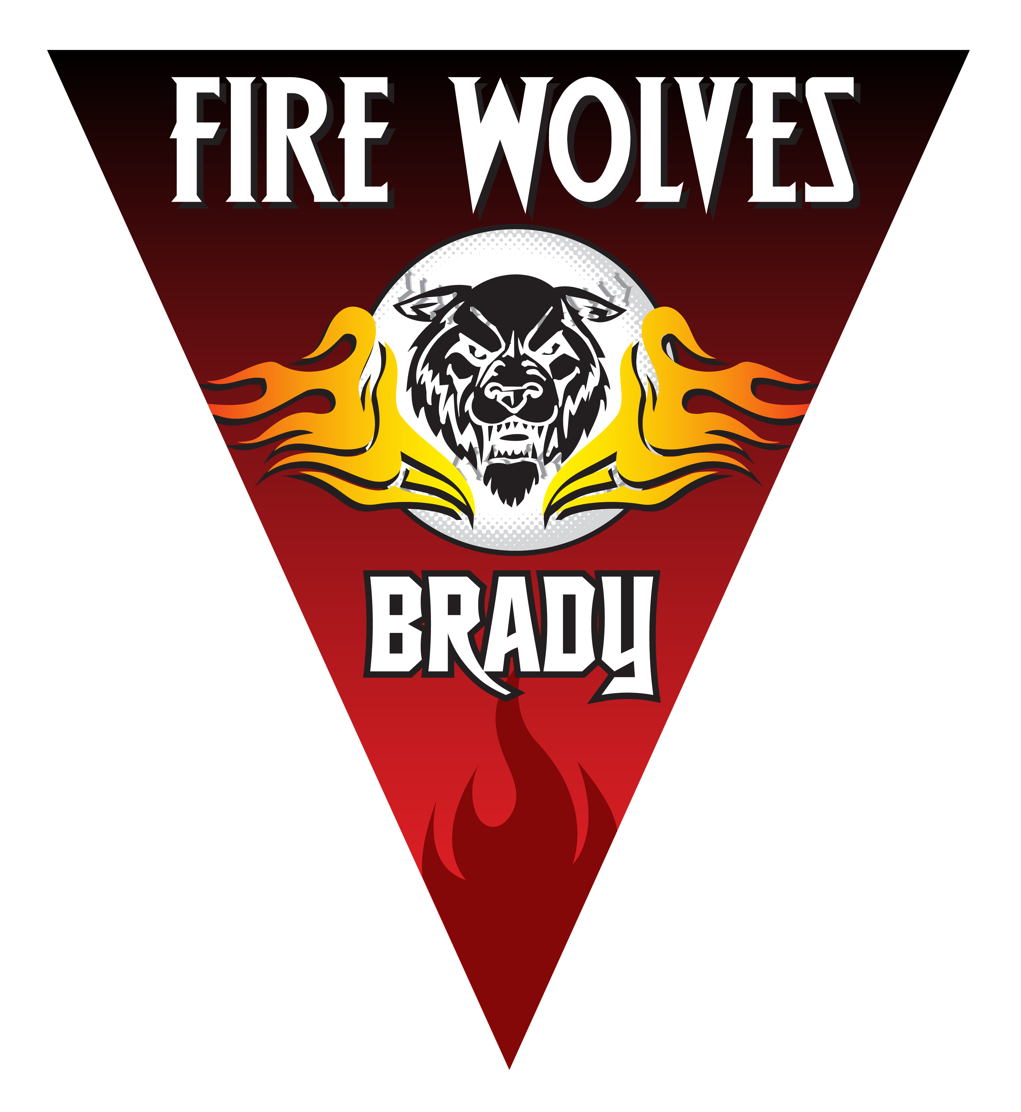 Fire baseball clipart picture freeuse stock Fire Wolves Triangle Individual Team Pennant - Custom Baseball ... picture freeuse stock