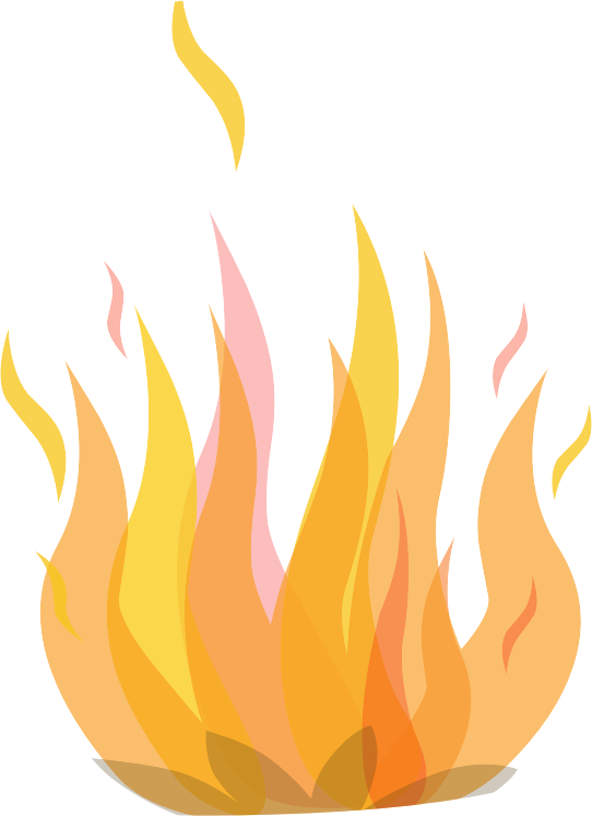 Football flames clipart image black and white Clip art fire clipart image - Hanslodge Cliparts image black and white