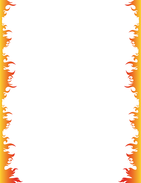 Fire border clipart black and white jpg transparent Pin by Muse Printables on Page Borders and Border Clip Art | Page ... jpg transparent