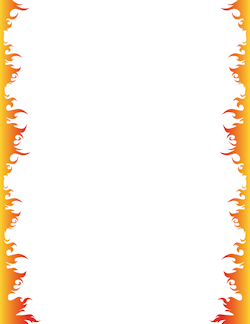 Fire border clipart free black and white download Fire Border   borders/frames   Page borders, Border templates ... black and white download