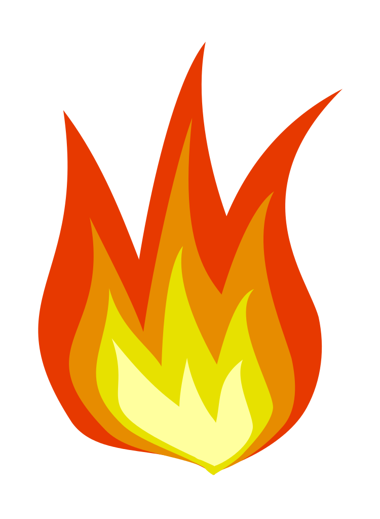 Wildfire clipart png vector royalty free download File:FireIcon.svg - Wikipedia vector royalty free download