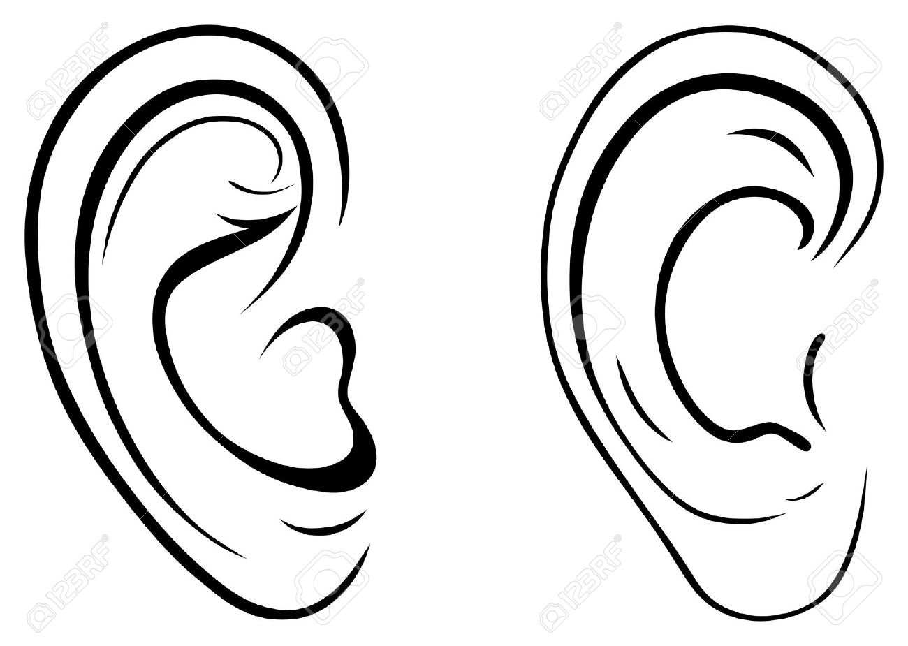 Fire coming out of ears clipart black and white png freeuse download Ears Clipart | Free download best Ears Clipart on ClipArtMag.com png freeuse download