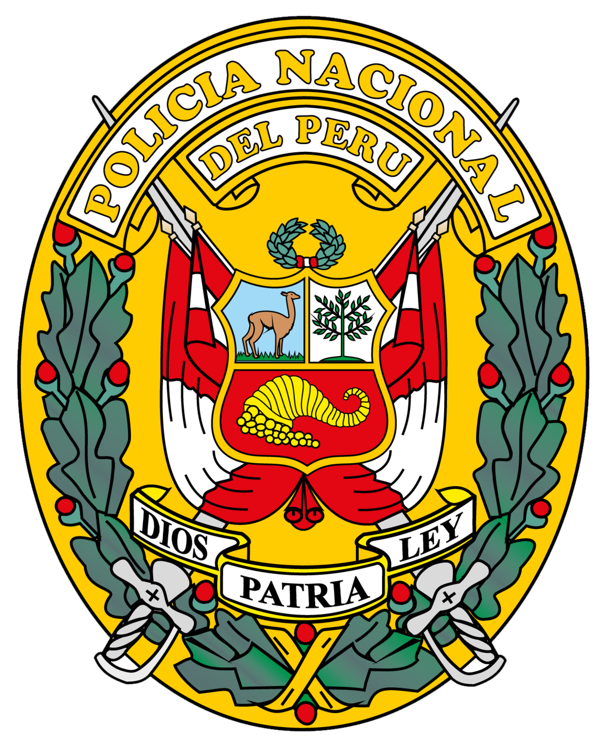 Fire department maltese cross unequal clipart. National police of peru
