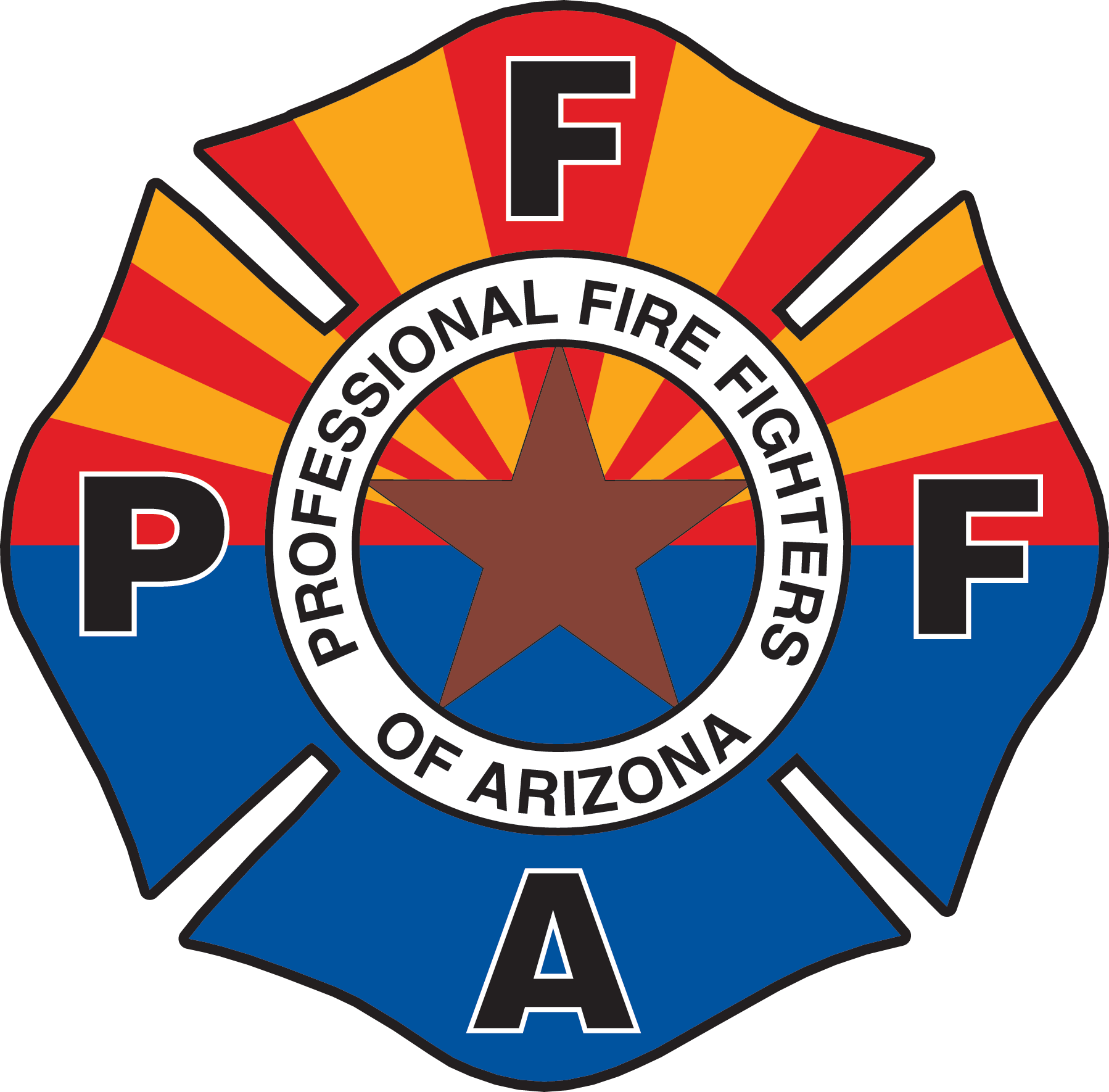 Sun cities firefighters visit. Fire department maltese cross unequal clipart