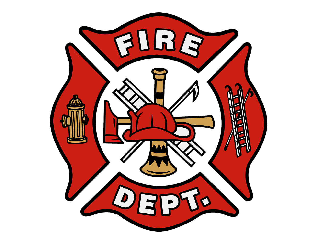 Fireman cross clipart black and white library Fire Dept Symbol Image collections - meaning of text symbols black and white library