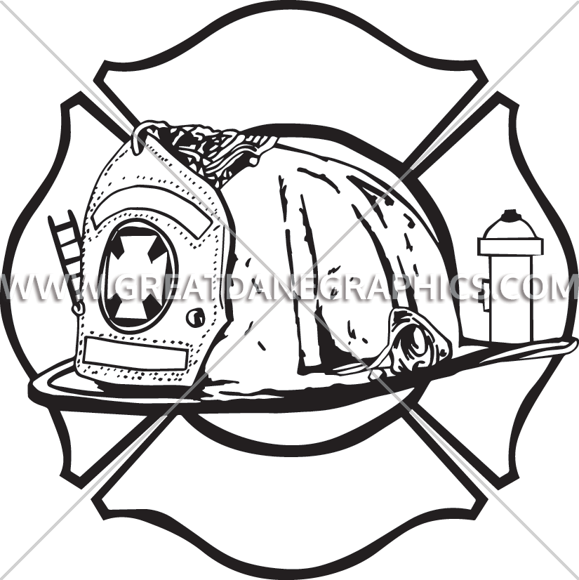 Firefighter dog clipart. Fire helmet drawing at