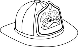 Fire fighter helmet clipart black and white clip download Fireman Hat Clipart Image - Fireman Hat Coloring Page - ClipArt ... clip download