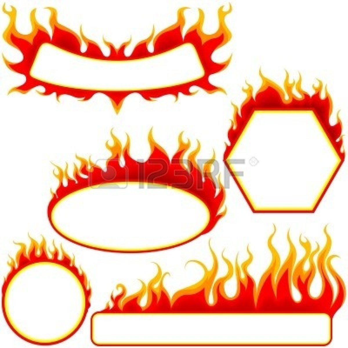 Fire frame clipart clipart royalty free library Fire Border   Free download best Fire Border on ClipArtMag.com clipart royalty free library