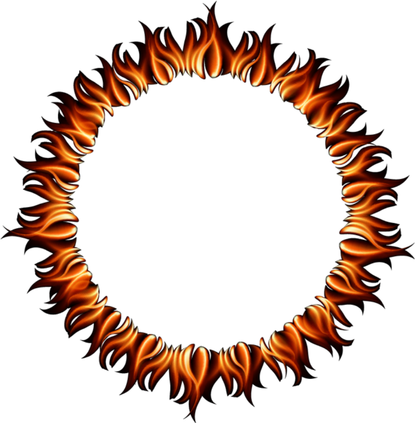 Fire frame clipart banner freeuse download Fire Flames Ring Round Circle Circles Frame Border - Fire Flames ... banner freeuse download