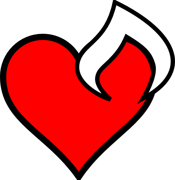 Fire heart clipart clipart royalty free stock Heartfire Clip Art at Clker.com - vector clip art online, royalty ... clipart royalty free stock