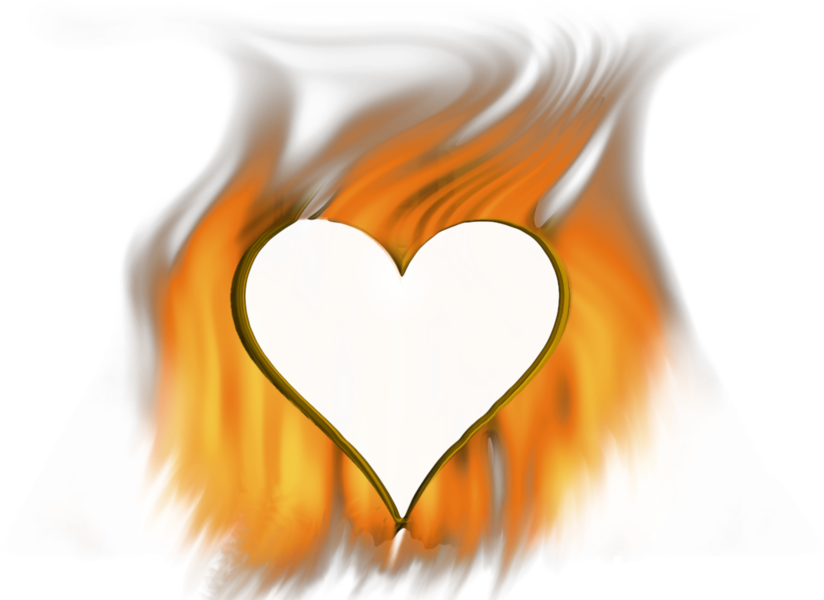 Fire heart clipart royalty free Fire Heart (PSD) | Official PSDs royalty free