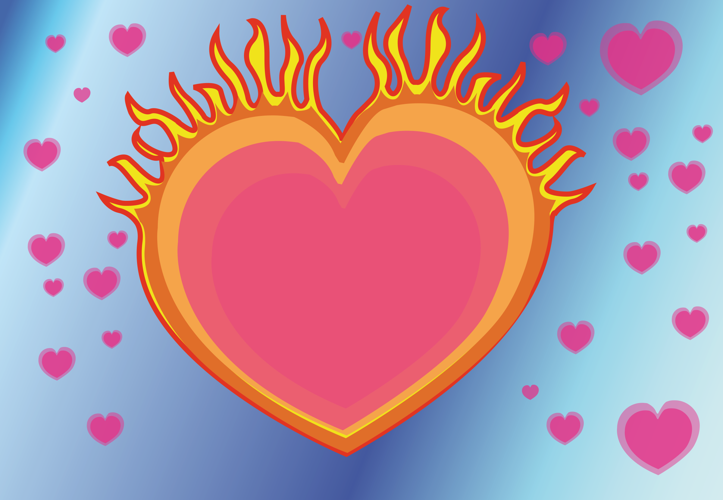 Fire heart clipart png freeuse library Clipart - heart on fire png freeuse library