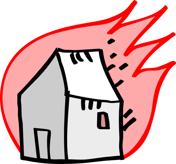 Fire house clipart png black and white stock Burning House Clip Art at Clker.com - vector clip art online ... png black and white stock
