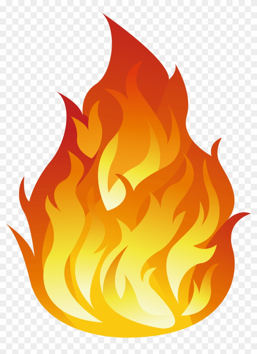 Border transparent fire icon. Flames clipart png