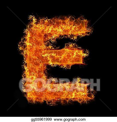 Fire letter e clipart graphic Stock Illustrations - Fire letter e. Stock Clipart gg55961999 - GoGraph graphic