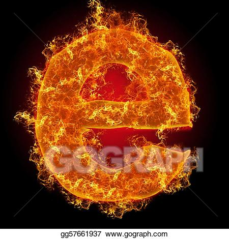 Fire letter e clipart png free stock Stock Illustration - Fire small letter e. Clipart Illustrations ... png free stock