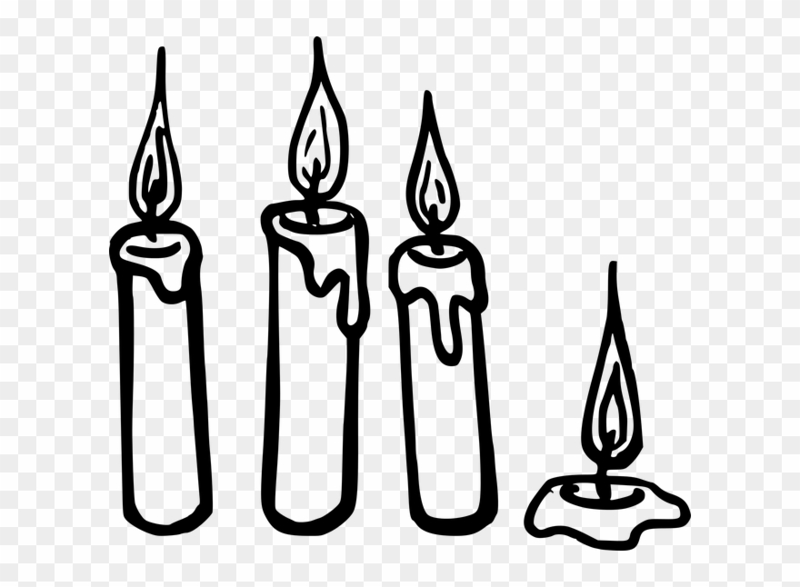 Candle string clipart image freeuse Fire Light Clipart - Candle Clipart Black And White - Png Download ... image freeuse