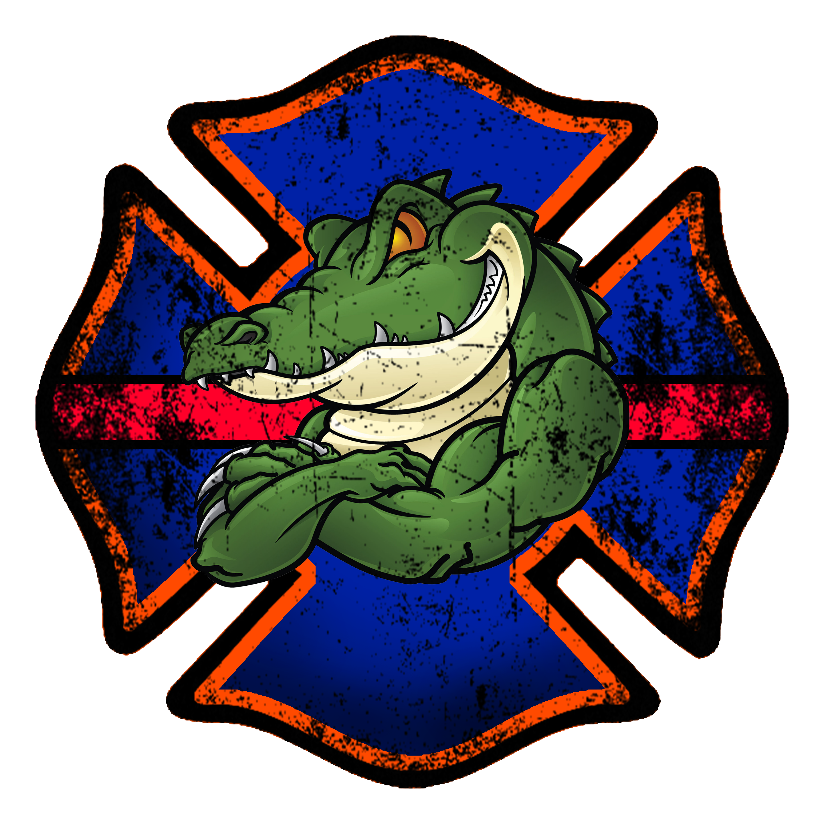 Firefighter cross clipart royalty free library Florida Gator Firefighter Decal - PRE-ORDER | Products | Pinterest ... royalty free library