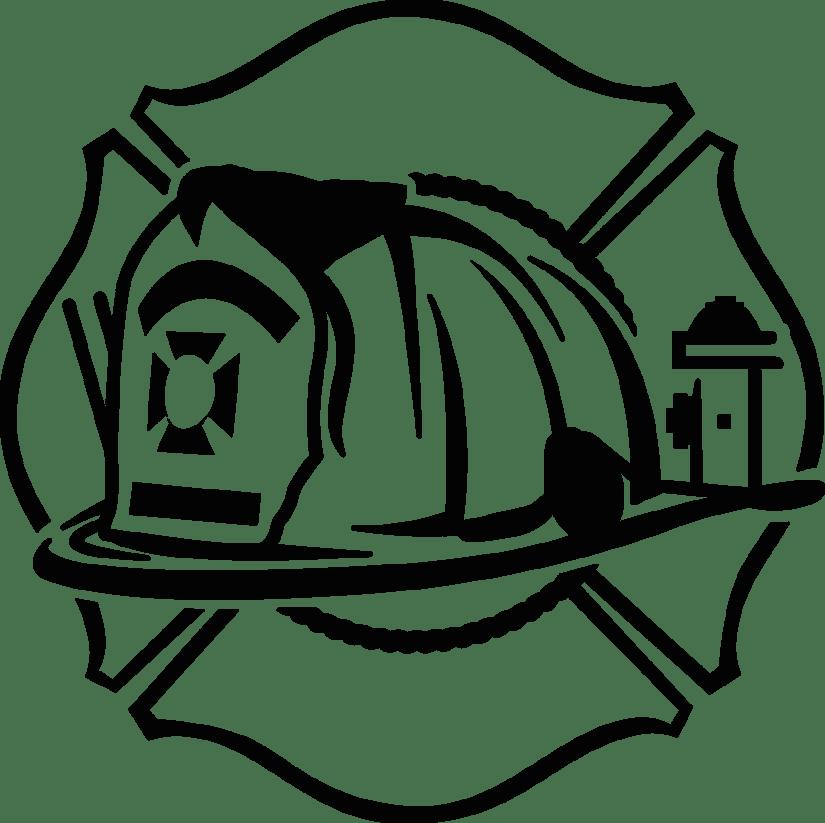 Firefighter maltese cross clipart clip art black and white library Maltese Fire Helmet | Production Ready Artwork for T-Shirt Printing clip art black and white library