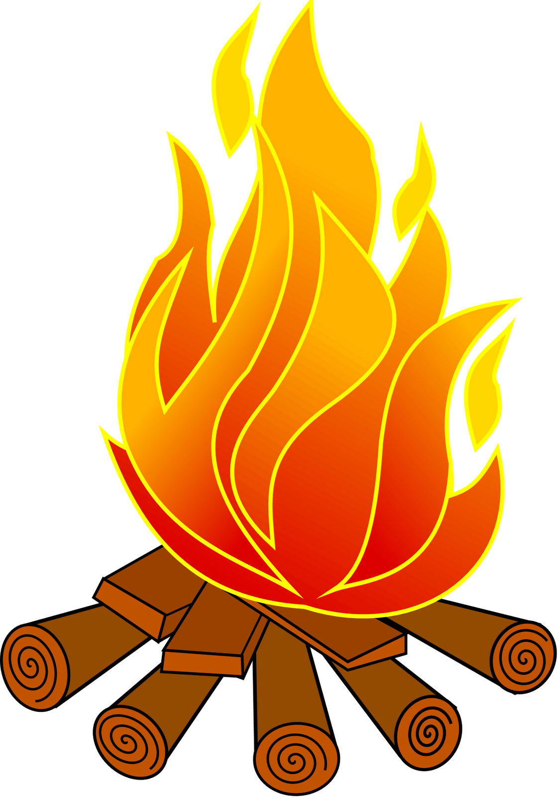 Burning flame clipart graphic black and white library Fire Pit Clipart | Free download best Fire Pit Clipart on ClipArtMag.com graphic black and white library