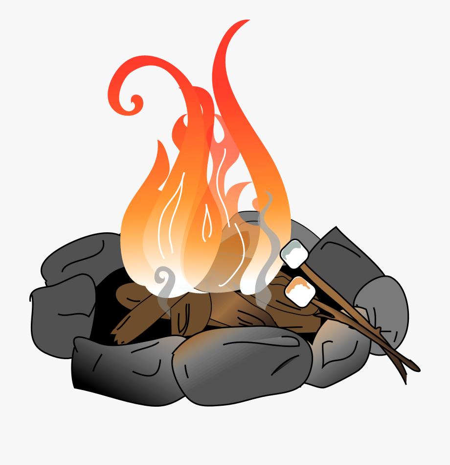 Fire pit clipart free png download Bonfire Clipart Fire Pit Pencil And In Color Bonfire - Fire Pit Clip ... png download