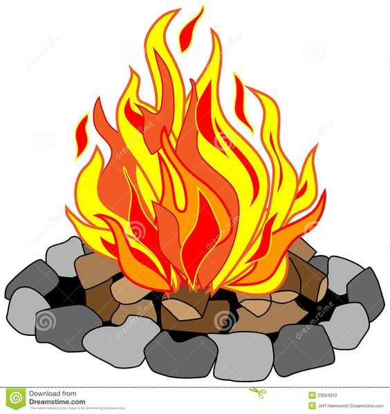 Fire pit clipart free royalty free download campfire clip art free   Vector drawing of campfire in a stone pit ... royalty free download