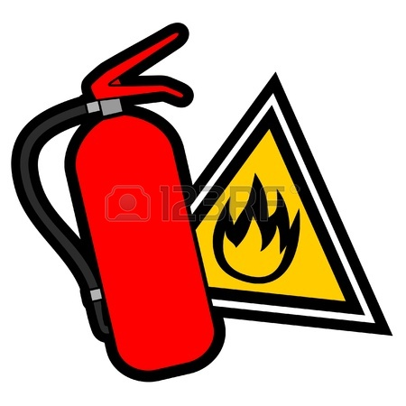 Fire safety logos clipart