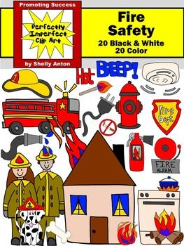 Fire prevention clipart picture freeuse stock Fire Safety Clip Art Firetruck, Hydrant, Dalmatian, Extinguisher ... picture freeuse stock