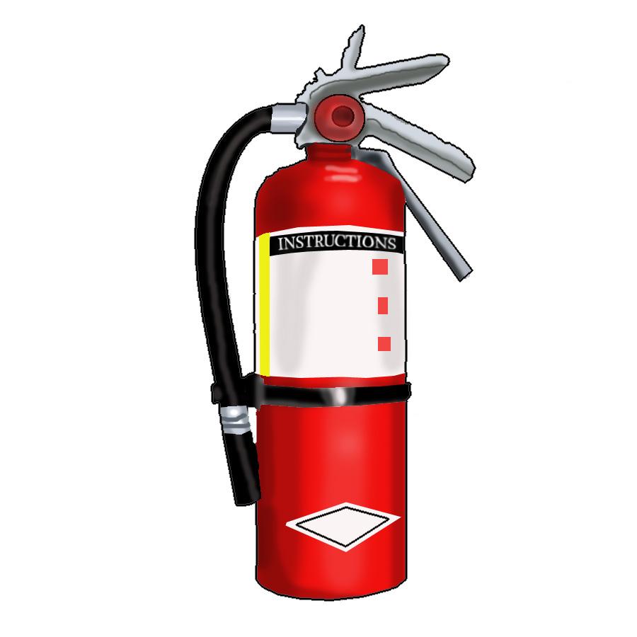 Cartoon fire extinguisher clipart