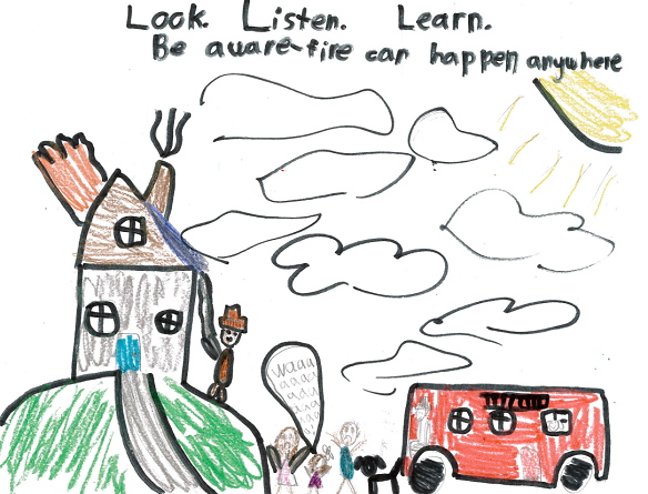 "Fire prevention week 2018 clipart graphic library stock Fire Prevention Week"" 2018 Poster Contest Winner – WKKG graphic library stock"