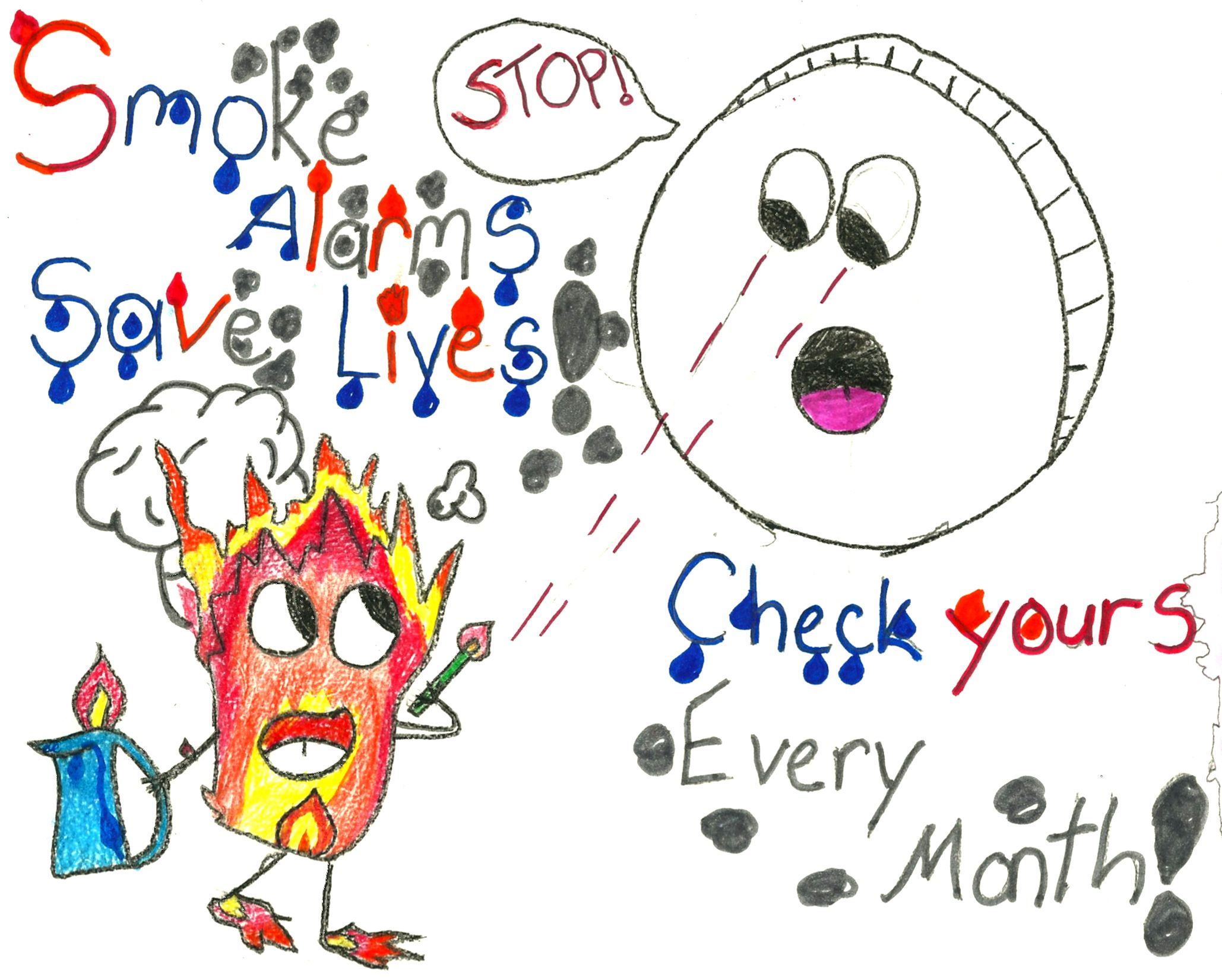 Fire prevention week 2018 clipart svg black and white library Fire Safety Poster Contest | Elementary Art Education | Fire safety ... svg black and white library