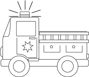 Fire truck clipart black white graphic transparent library clip art black and white | Firetruck Clipart Image Black And White ... graphic transparent library