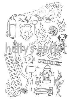 Fire safety clipart black and white graphic royalty free Fire Safety Clipart // Fire Safety, Fireman, Fires, Firehouse, Firetruck graphic royalty free