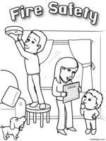 Fire safety clipart black and white clip free download Fire Safety Theme Unit - Printables and Worksheets clip free download