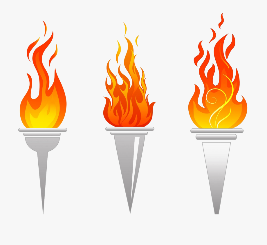 Olympic torch clipart free
