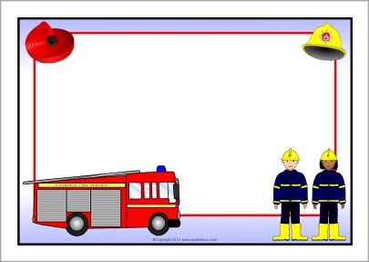 Fire truck border clipart vector freeuse stock Fire Service A4 page borders (SB8927) - SparkleBox | ΑΤΥΧΗΜΑΤΑ ... vector freeuse stock