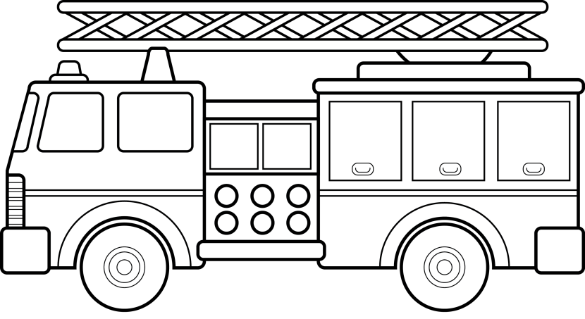 Fire truck clipart black white banner free Firefighter black and white fire truck firetruck clipart 3 - WikiClipArt banner free